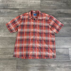 TOMMY BAHAMA- Plaid silk camp shirt